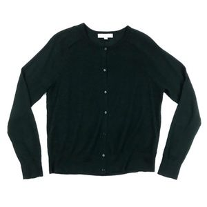 LOFT | Cardigan Sweater Crewneck Wool Blend Career